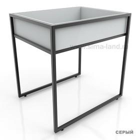 Накопитель низкий, цвет серый (каркас стола приобретается отдельно) Ош