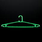 Вешалка для легкой одежды 40 см, цвет зелёный