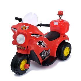 Электромобиль «Мотоцикл шерифа», цвет красный Ош