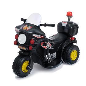 Электромобиль «Мотоцикл шерифа», цвет чёрный Ош