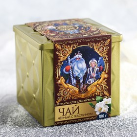 Чай чёрный «Дед Мороз»: жасмин, 100 г.