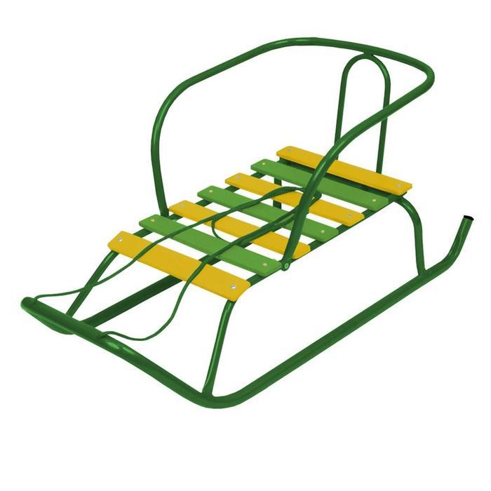 Санки «Ветерок 1», цвет зелёный