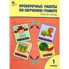 Проверочные работы по обучению грамоте. 1 класс. Рабочая тетрадь. Дмитриева О. И.