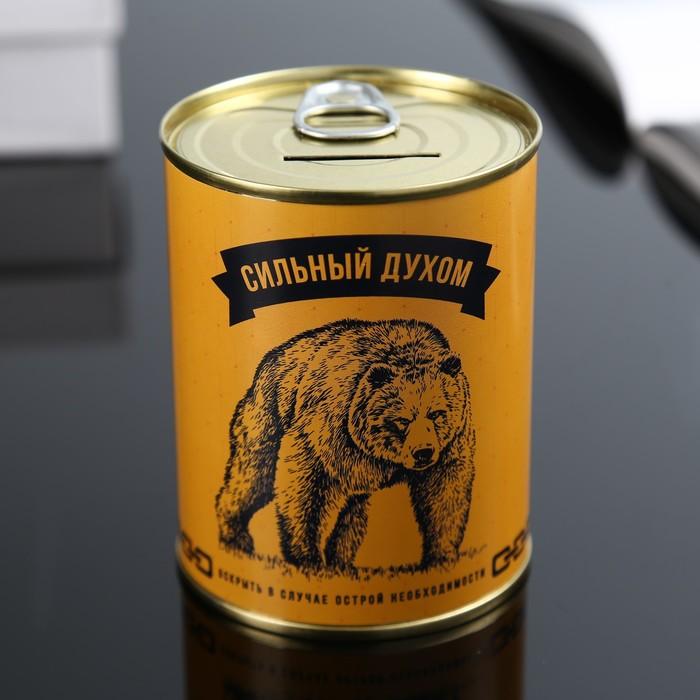 Копилка-банка металл Сильный духом 7,3х9,5 см