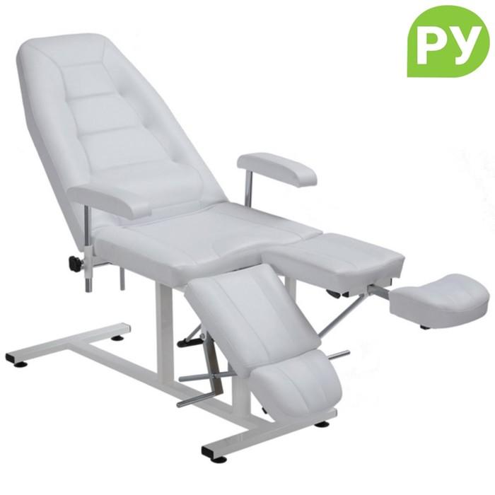 Кресло педикюрное ПК-03 гидравлика, цвет белый