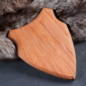Медальон для охотничьих трофеев «Щит», некрашеная, 28х19 см, массив бука Ош