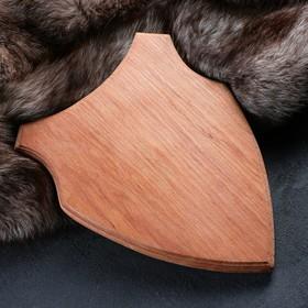 Медальон для охотничьих трофеев «Волк», некрашеная, 33х25 см, массив бука Ош