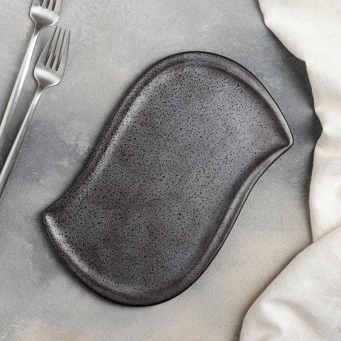 Блюдо для подачи «Шоко», 25,5×16×1 см, цвет серый