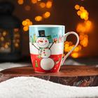 Кружка Доляна «Жизнерадостный снеговик», 350 мл - Фото 1