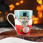 Кружка Доляна «Жизнерадостный снеговик», 350 мл - Фото 3