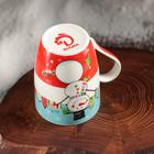 Кружка Доляна «Жизнерадостный снеговик», 350 мл - Фото 4