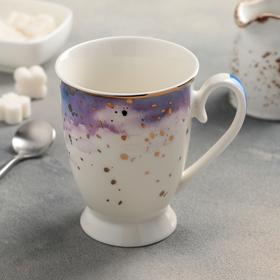 Кружка Доляна «Млечный путь», 320 мл, 11,5×8,5×11 см, цвет сиреневый