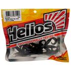 Твистер Helios Тiny Credo 4 см Black HS-8-011, набор 12 шт.