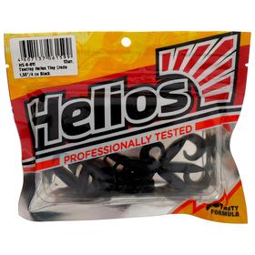 Твистер Helios Тiny Credo 4 см Black HS-8-011, набор 12 шт. Ош