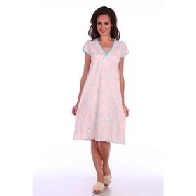 Сорочка женская, цвет розовый, размер 52