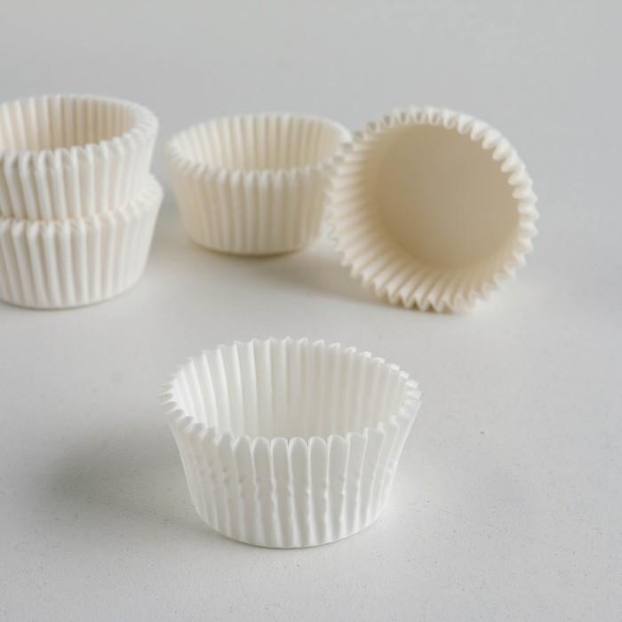 Форма для выпечки белая, 3,5 х 2 см