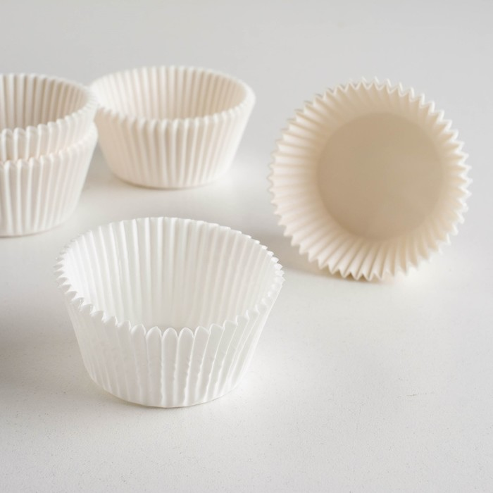 Тарталетка, белая, 4,5 х 2,9 см
