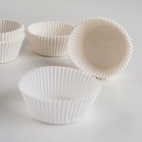 Форма для выпечки белая, 5 х 2,5 см Ош