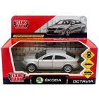 Машина металлическая Skoda Octavia, инерционная, цвет серебристый, 12 см