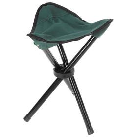УЦЕНКА Стул туристический треугольный, 28 х 26 х 36 см, до 60 кг, цвет зелёный Ош