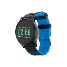Смарт-часы Qumann QSW 01, цветной дисплей 1.3', черно-синие Ош