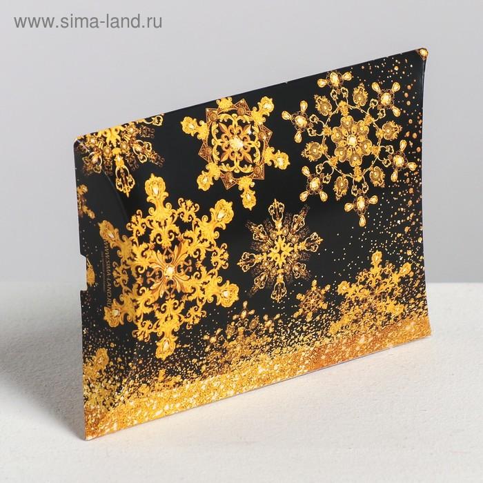 Коробка сборная фигурная «Золотой шик», 11 × 8 × 2 см