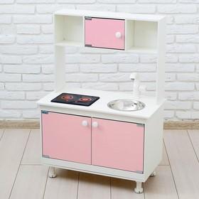 Игровая мебель «Кухонный гарнитур», световые и звуковые эффекты, цвет розовый, интерактивная панель