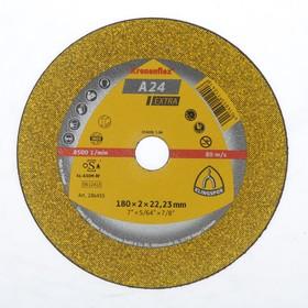 Круг отрезной по металлу KLINGSPOR 286455, d=180х22.2 мм, 8500 об/мин, толщина 2 мм