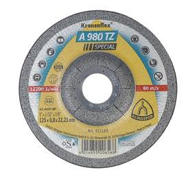 Круг отрезной по металлу и нержавеющей стали KLINGSPOR 322183, вогнутый, d=125х22.2 мм