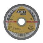 Круг отрезной по металлу и нержавеющей стали KLINGSPOR 340946, d=125х22.2 мм, толщина 1.6 мм   45303