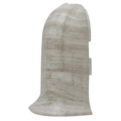 Наружный угол для плинтуса SALAG 71 Дуб Деревенский белый, (1шт блистер)