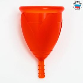"Менструальная чаша ""Тюльпан"", разер L, цвет красный"