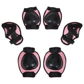 Защита роликовая OT-2015, размер М, цвет розовый Ош