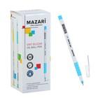 Ручка шариковая MAZARi Virt, узел 0.7 мм, синие чернила, пулевидный пишущий узел, пластиковый белый корпус