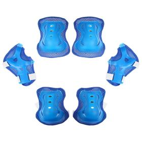 Защита роликовая OT-2020, размер M, цвет синий Ош