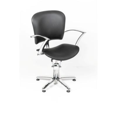 Кресло парикмахерское Лира, цвет чёрный 600х630