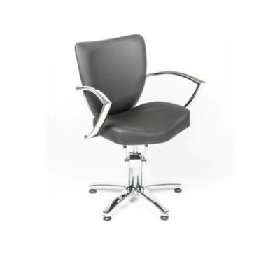 Кресло парикмахерское Луна, цвет чёрный 580х650