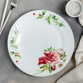 Тарелка обеденная Доляна «Бархатная роза», d=25 см