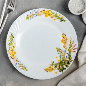 Тарелка обеденная Доляна «Полевые цветы», d=25 см