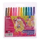 Мелки восковые 12 цветов «Барби», выкручивающиеся, в пластиковом корпусе