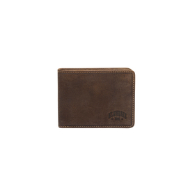 Бумажник KLONDIKE Billy, натуральная кожа в тёмно-коричневом цвете, 11×8,5 см