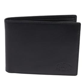 Бумажник KLONDIKE Claim, натуральная кожа в чёрном цвете, 12×2×9,5 см