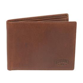 Бумажник KLONDIKE Dawson, натуральная кожа в коричневом цвете, 13×1,5×9,5 см