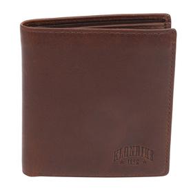 Бумажник KLONDIKE Dawson, натуральная кожа в коричневом цвете, 9,5×2×10,5 см