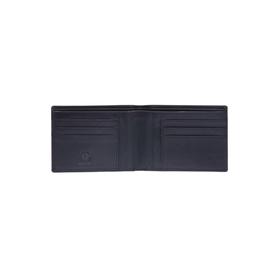 Бумажник KLONDIKE Dawson, натуральная кожа в чёрном цвете, 13×1,5×9,5 см
