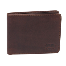 Бумажник KLONDIKE DIGGER Amos, натуральная кожа в тёмно-коричневом цвете, 12,5×10×2,5 см