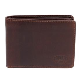 Бумажник KLONDIKE DIGGER Angus, натуральная кожа в тёмно-коричневом цвете, 12×9×2,5 см