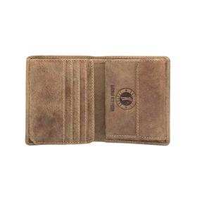 Бумажник KLONDIKE Jamie, натуральная кожа в коричневом цвете, 9×10,5 см