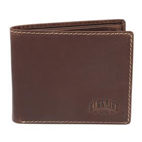 Бумажник KLONDIKE Yukon, натуральная кожа в коричневом цвете, 10,5×2,5×9 см