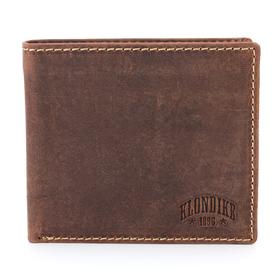 Бумажник KLONDIKE Yukon, натуральная кожа в коричневом цвете, 11×2×9,5 см